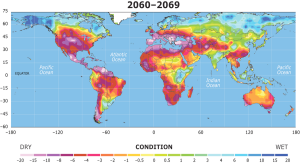 Climate prediction map 2060-2069