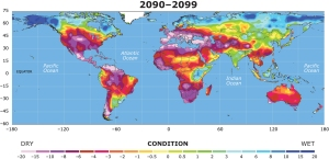 National Center for Atmospheric Research Precipitation Prediction 2090-2099