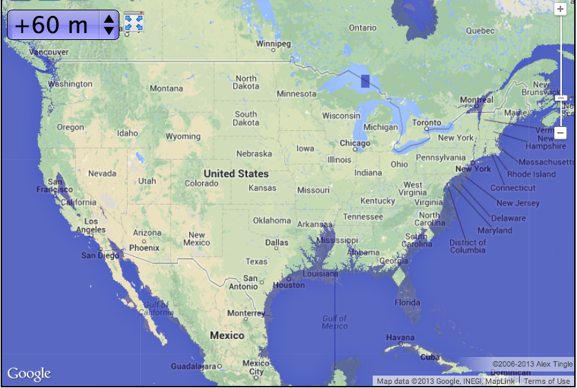 Bangladesh Tothesungod - Us sea level rise map