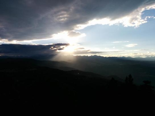 Sunset over the Continental Divide seen from Green Mtn